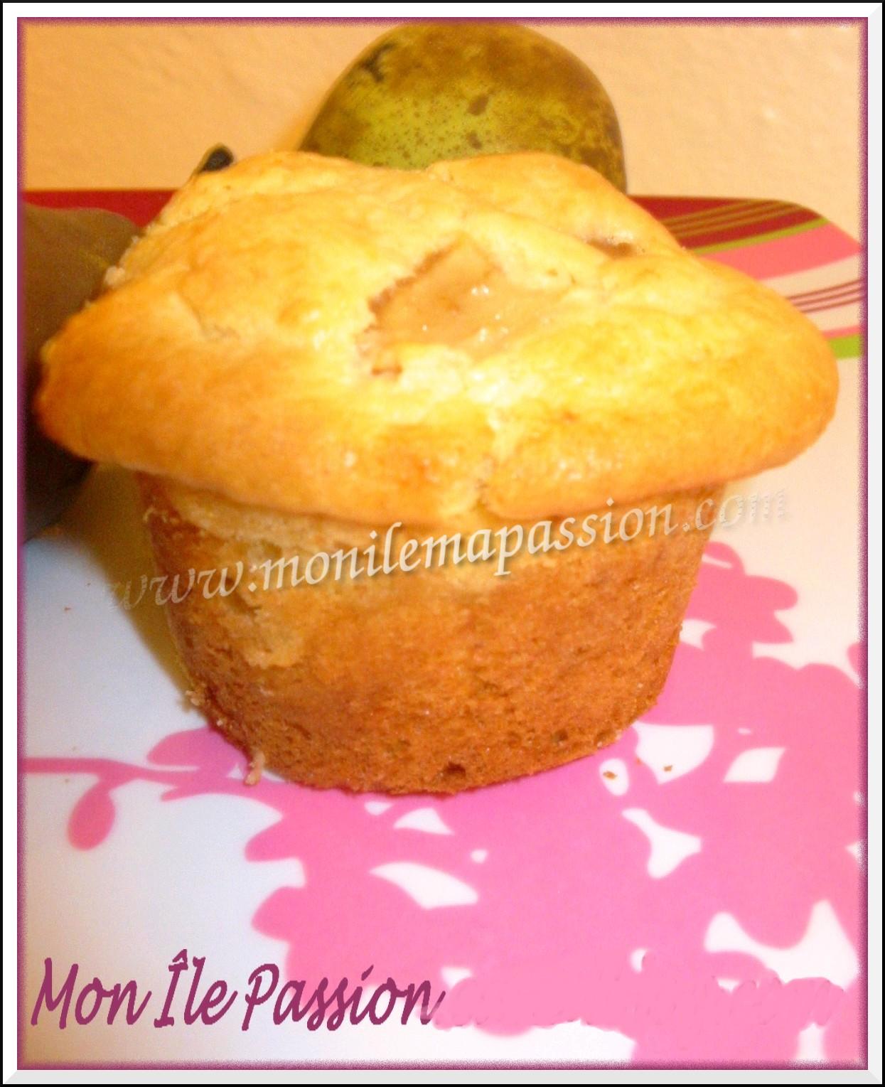 Muffins coco-poire