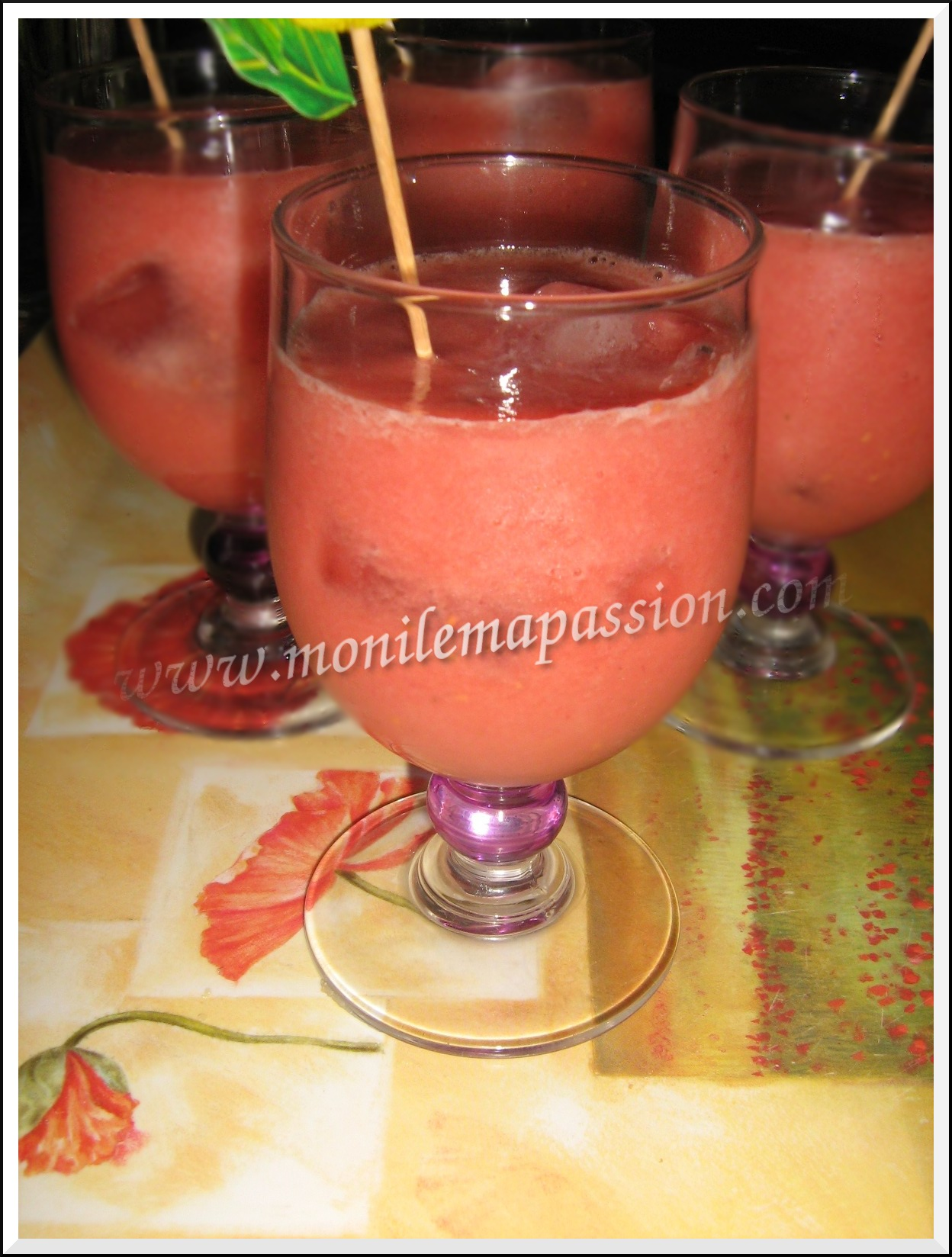 Smoothie de fruits frais