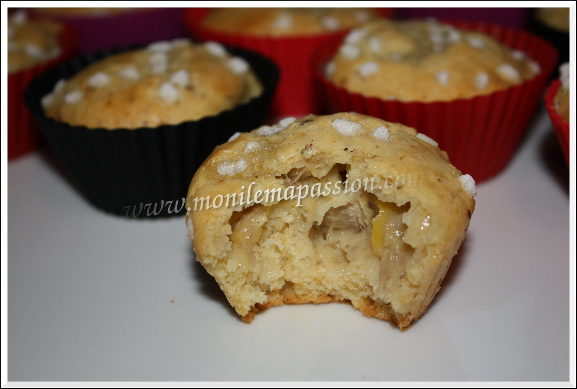Muffins banane noisettes
