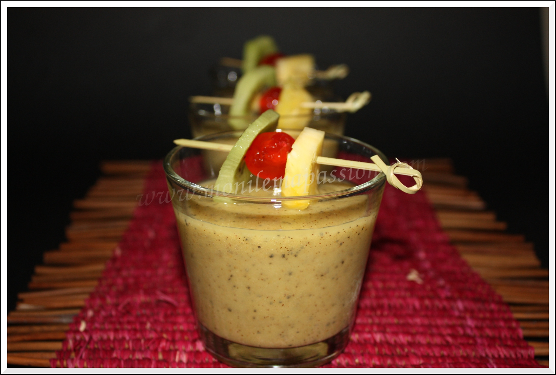 Smoothie ananas passion kiwi