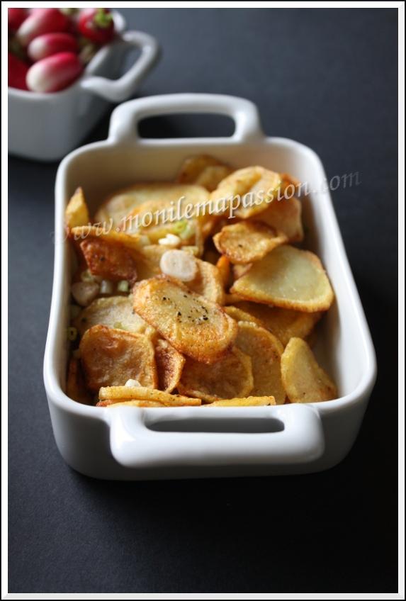 Chips de pommes de terre maison aux épices