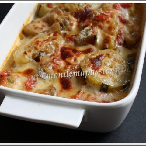 Gratin de courgette et aubergine au parmesan