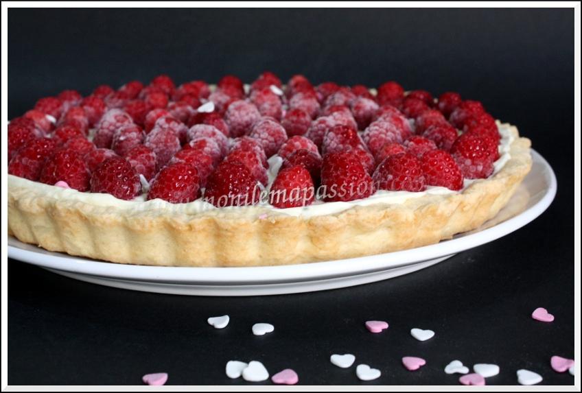 Tarte sablée mascarpone et framboises – Raspberry Mascarpone Tart