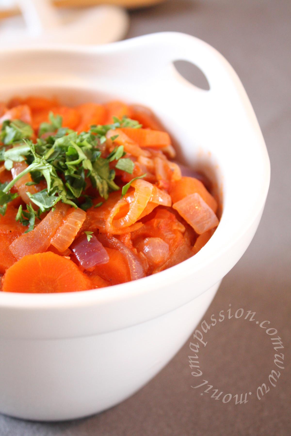Rougail carotte - Carrot Rougail