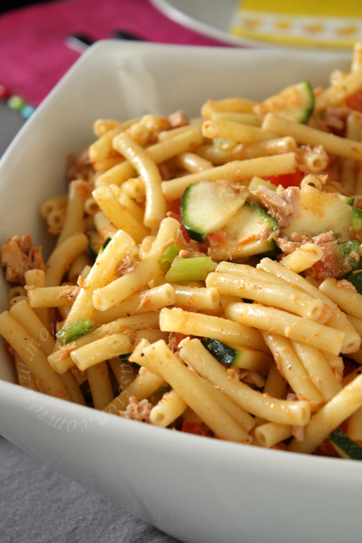 Salade de macaroni au thon – Macaroni tuna salad