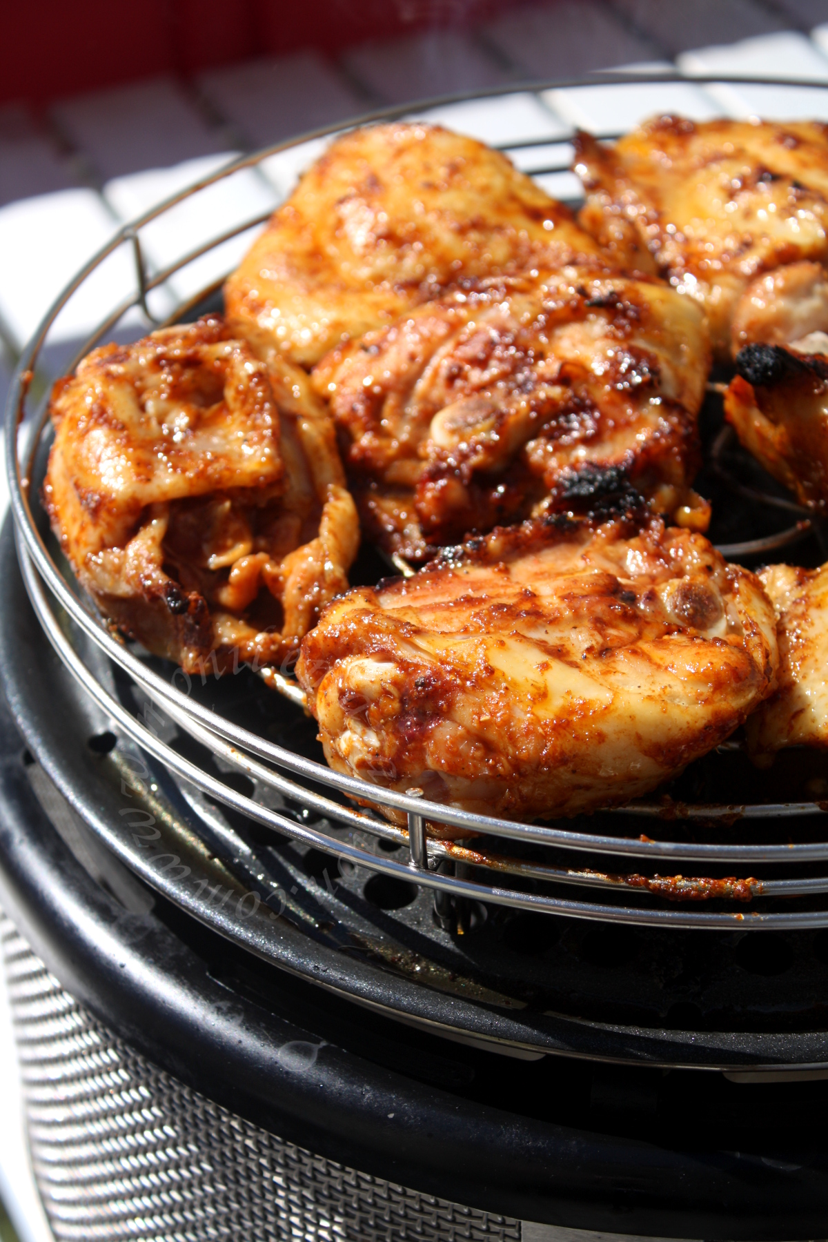 Poulet grillé au pimentón - Smoked paprika grilled chicken thighs