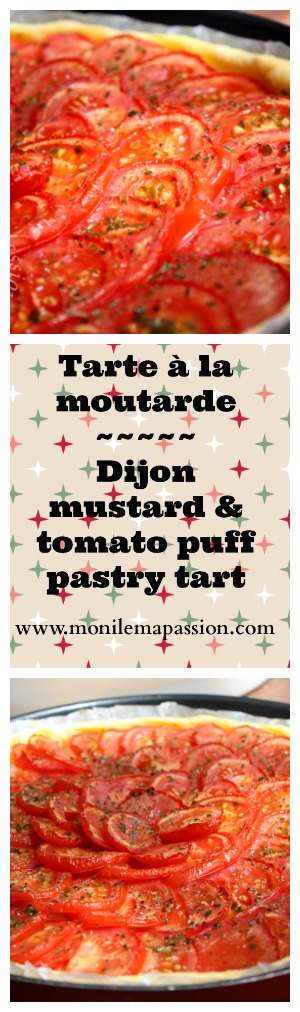 Tarte à la moutarde – Dijon mustard & tomato puff pastry tart