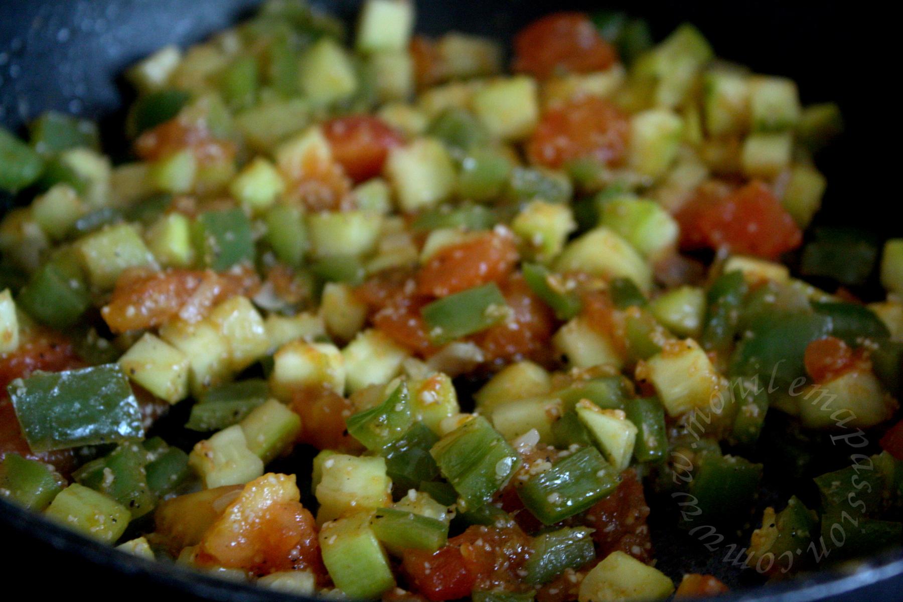 Cake légumes, gros piments et jambon blanc de volaille – Green Sweet Chili Pepper, Chicken Ham & Veggie Cake