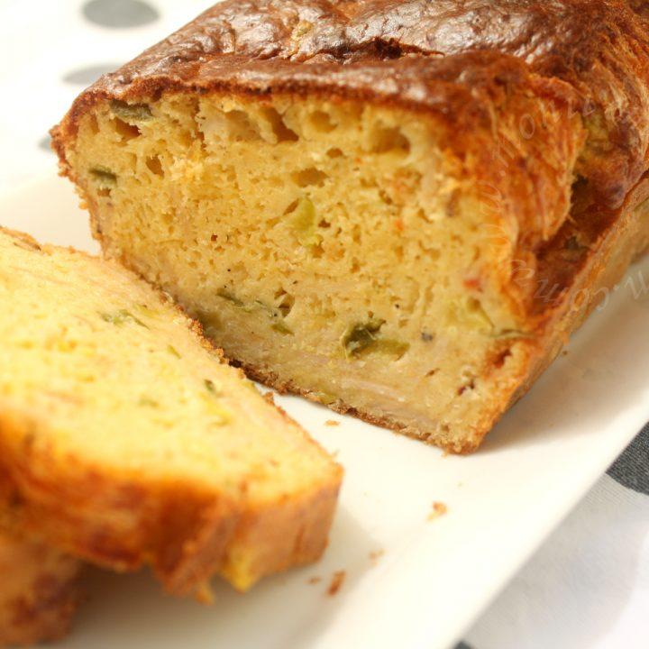 Cake légumes, gros piments et jambon blanc de volaille