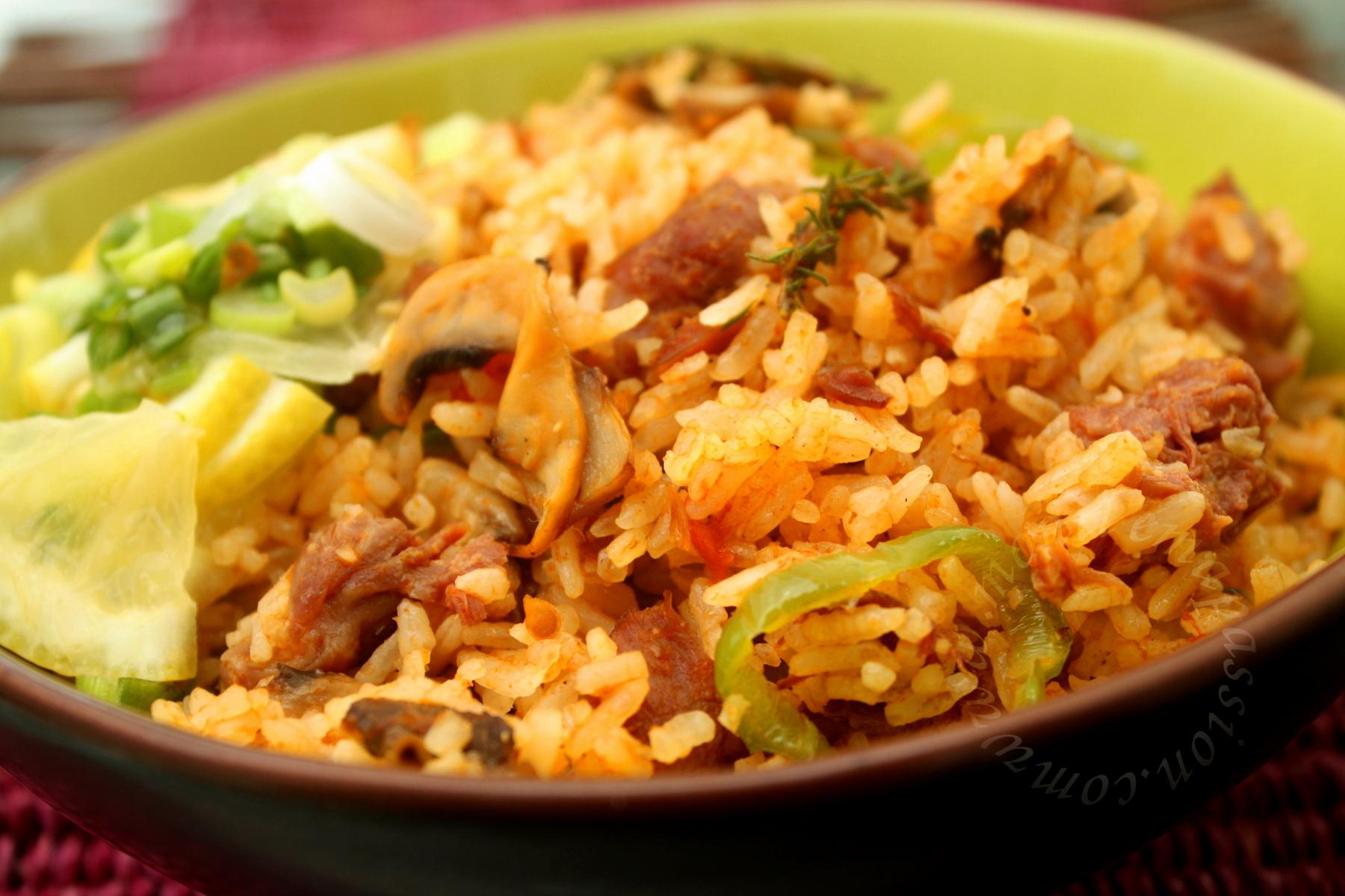 Riz chauffé aux gésiers de poulet – Chicken Gizzards fried rice