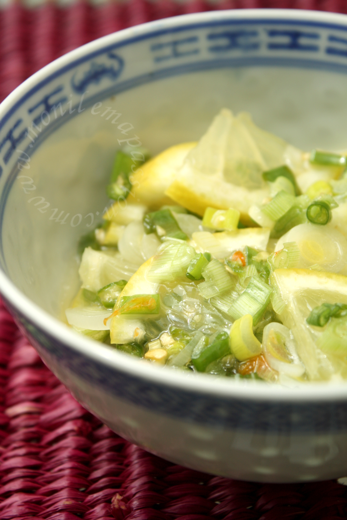 Rougail citron aux oignons verts - Chives & Lemon rougail