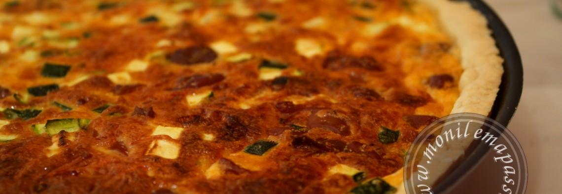 Quiche courgettes et gésiers de volaille - Zucchini and Chicken Gizzards Quiche