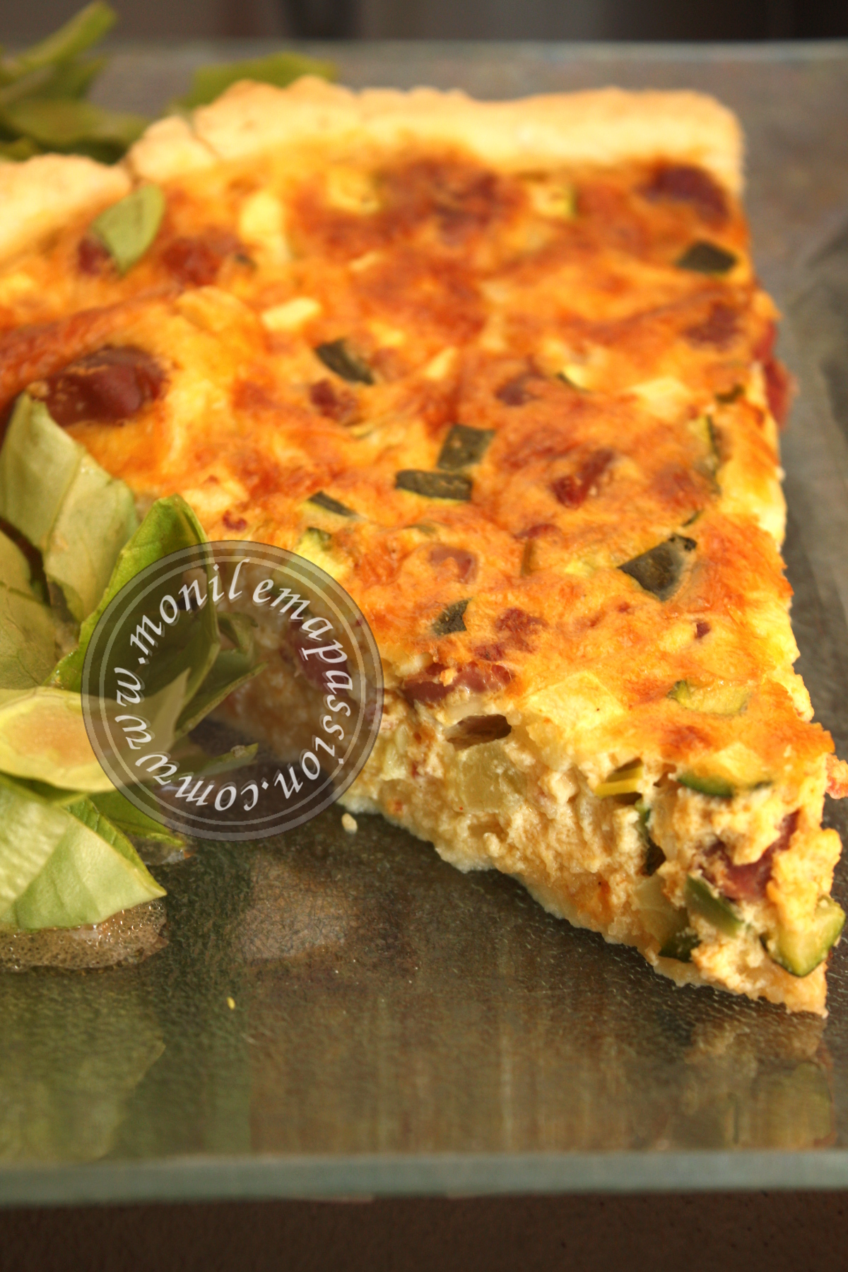 Quiche courgettes et gésiers de volaille - Zucchini and Chicken Gizzards Quiche