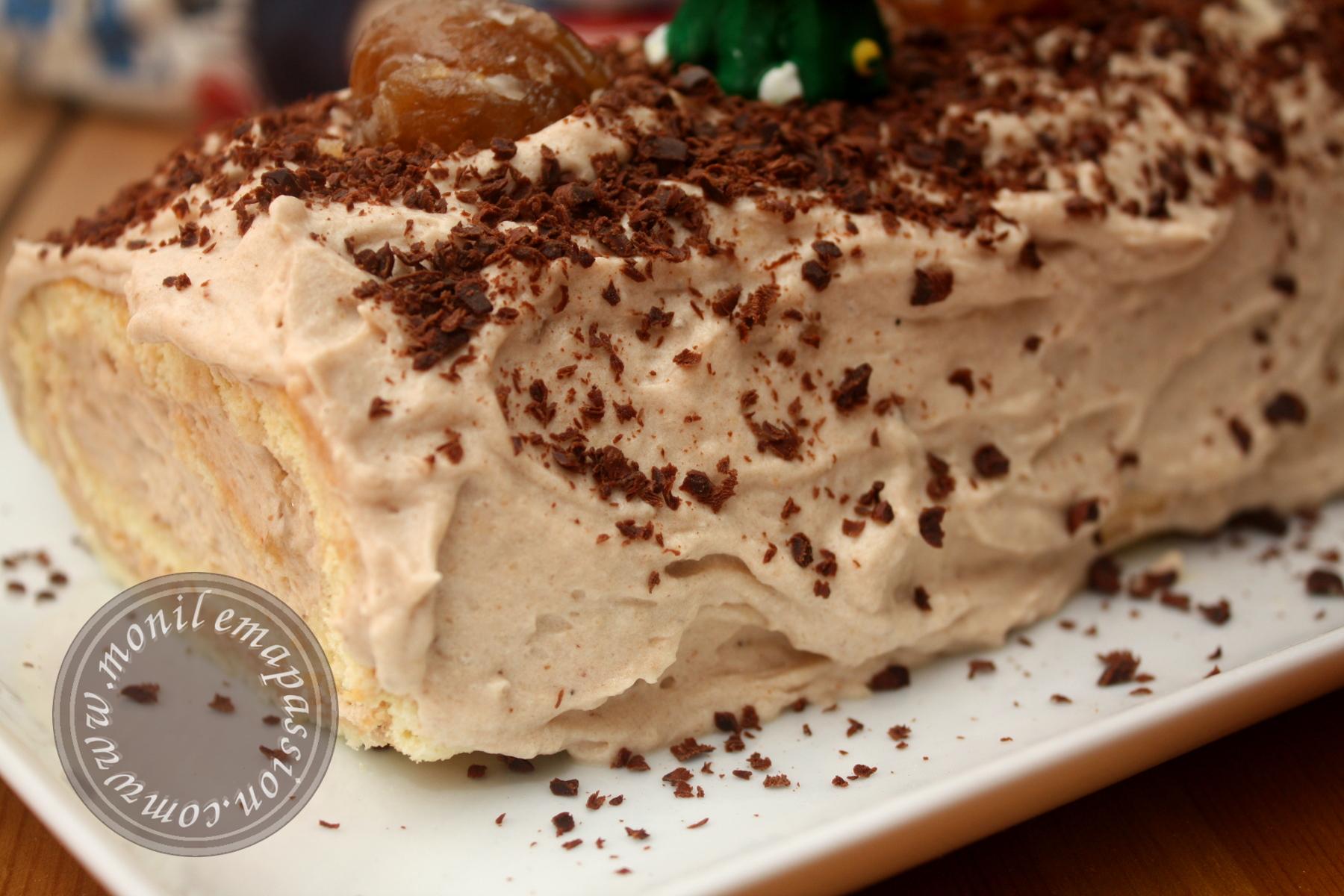 Bûche de Noël à la mousse de marrons - Chestnut mousse Bûche de Noel
