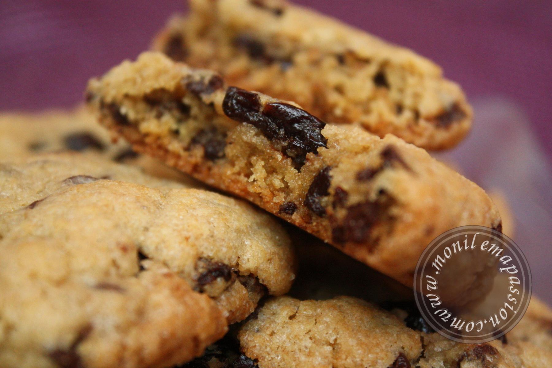 Cookies cerises séchées, pépites de chocolat et noix de pécan – Dried cherries & Pecan & Chocolate chips cookies