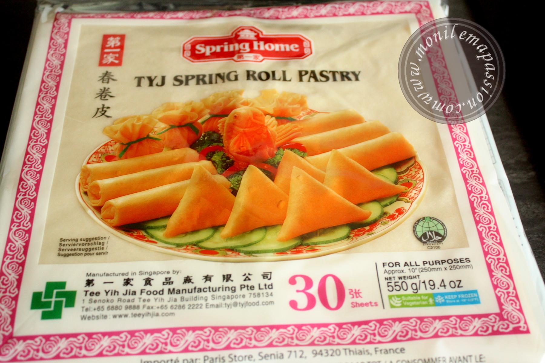 Feuilles pour samoussas/nems - eggs roll wrappers