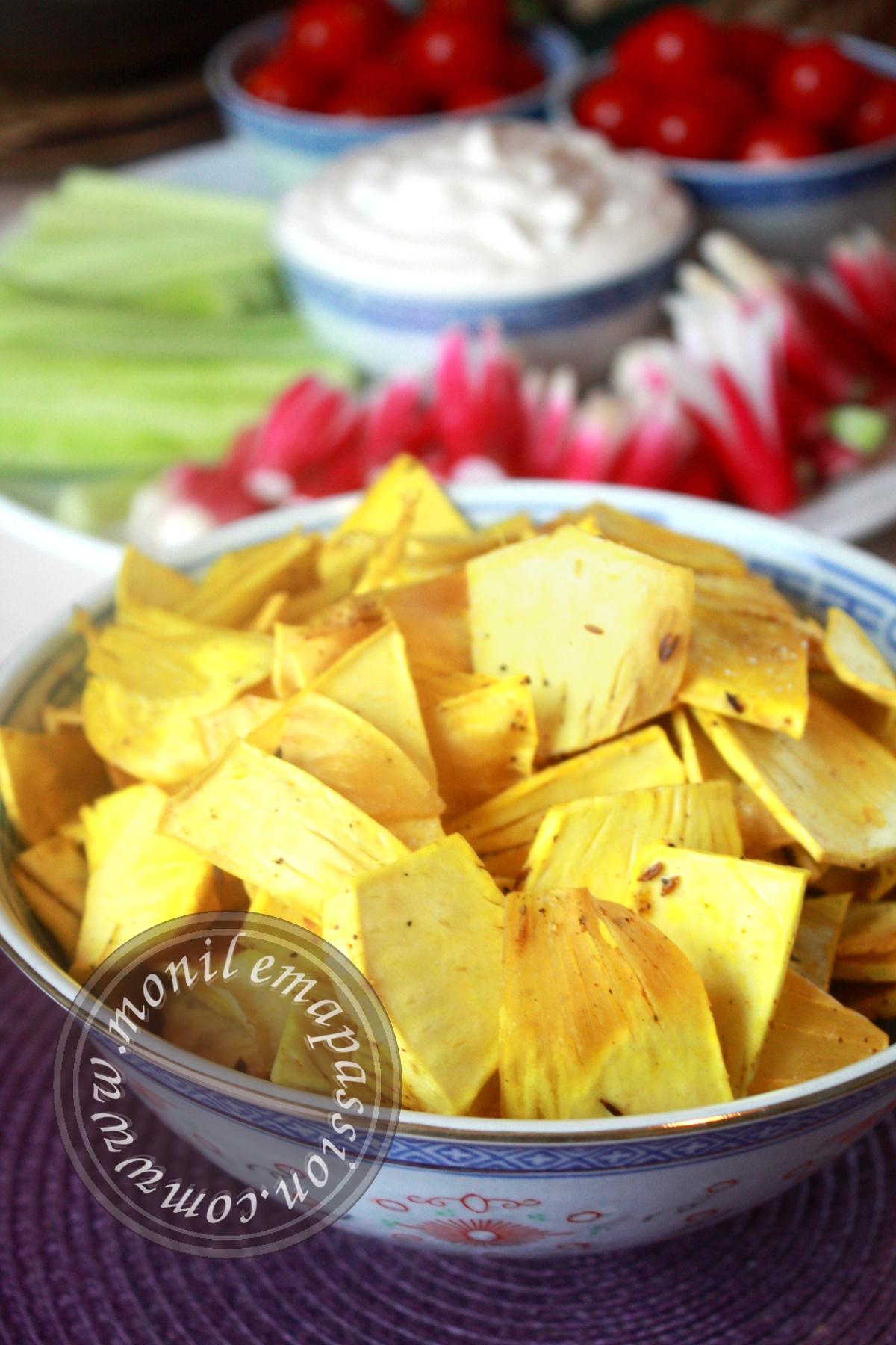 Chips de fruit à pain épicées - Spicy breadfruit chips