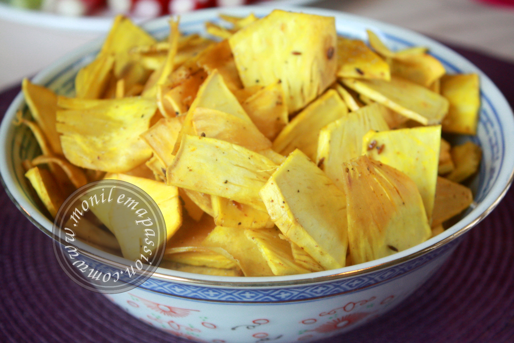 Chips de fruit à pain épicées – Spicy breadfruit chips