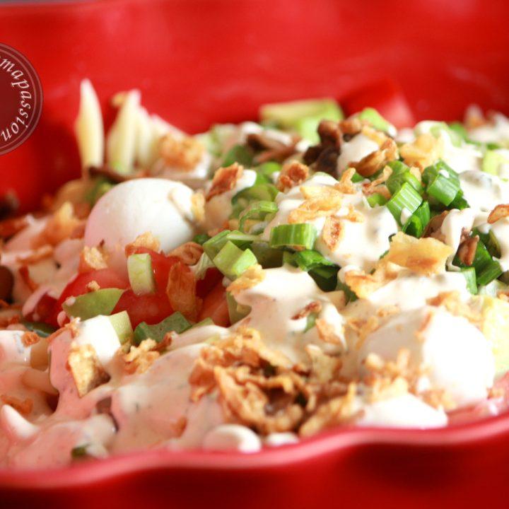 Salade de pâtes sauce ranch