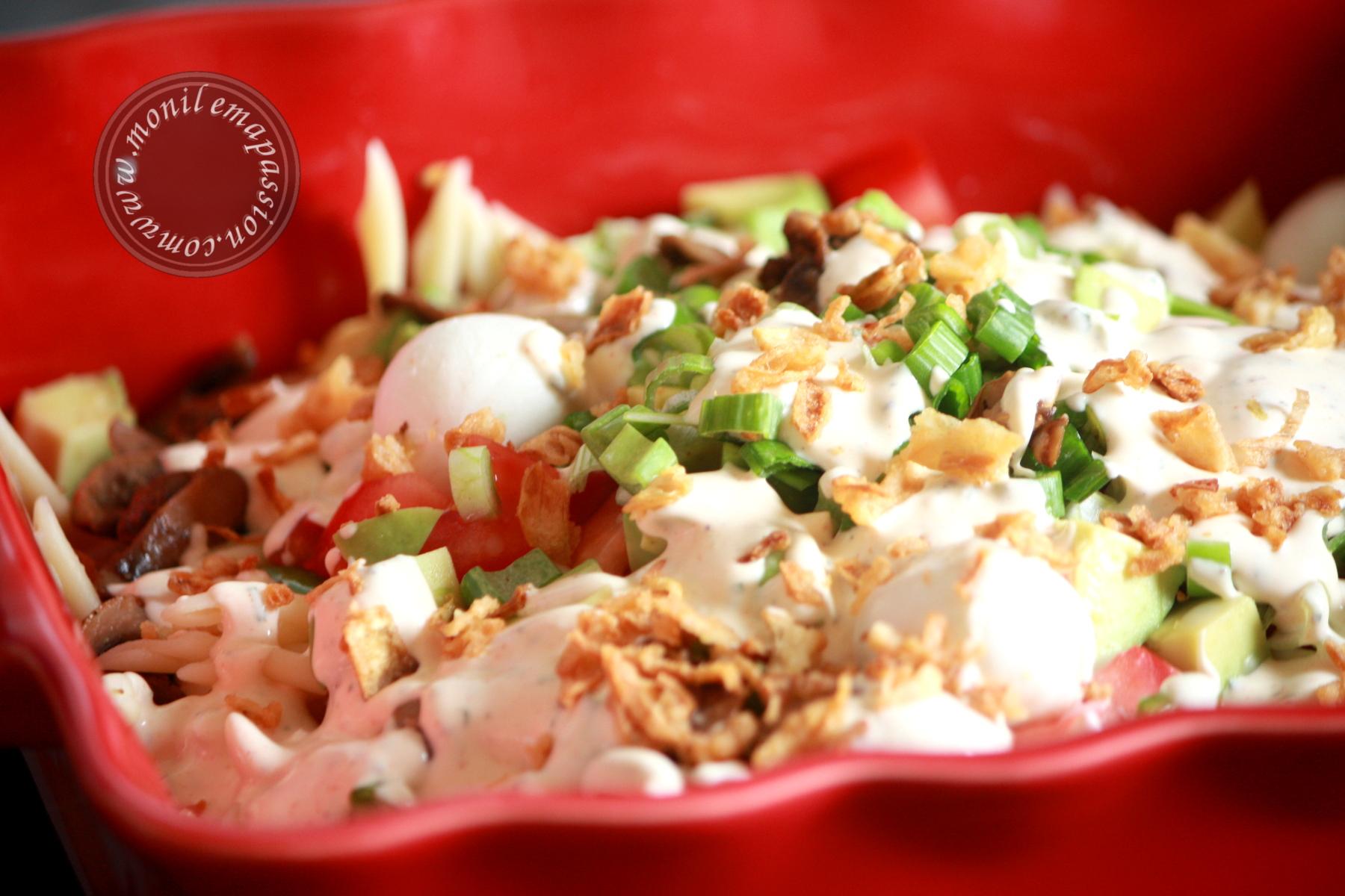Salade de Pâtes Sauce Ranch – Pasta Salad and Ranch Dressing