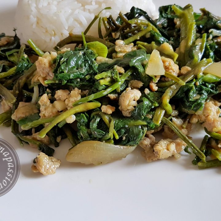 Chicken Water Spinach Stir Fry